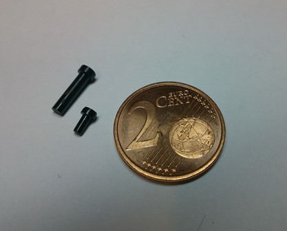 Präzisionsbolzen Dm. 1,5 mm und Länge 2 mm